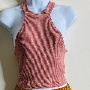🌈BUNDLE SALE Ribbed Dust Pink Halter Top